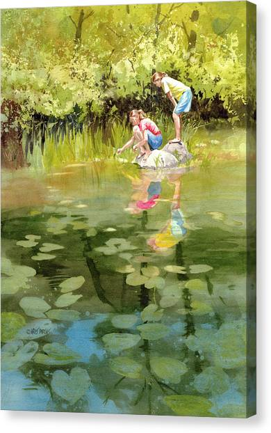 Lessons Of The Lake Canvas Print