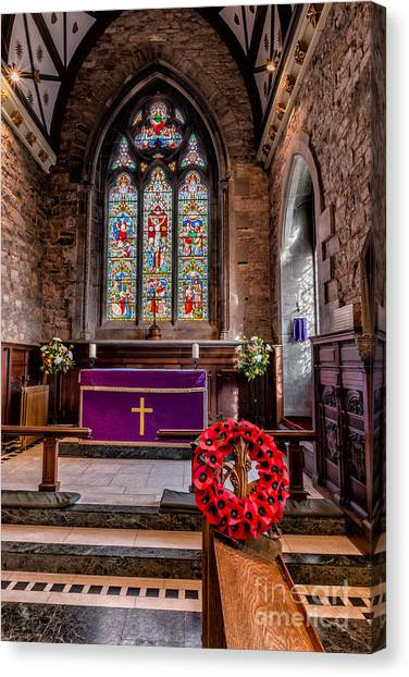 Wreath Canvas Print - Lest We Forget by Adrian Evans