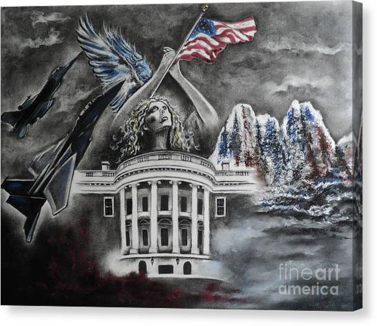 Whitehouse Canvas Print - Let Freedom Ring by Carla Carson