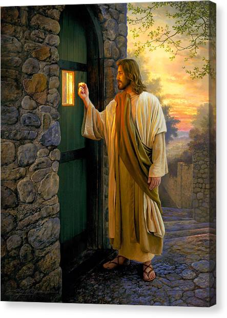 Religious Canvas Print - Let Him In by Greg Olsen