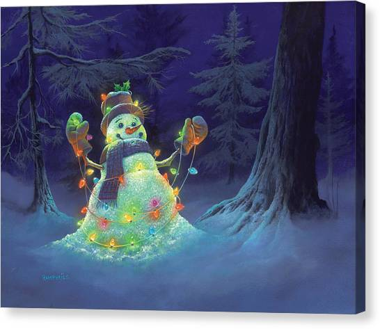 Night Lights Canvas Print - Let It Glow by Michael Humphries