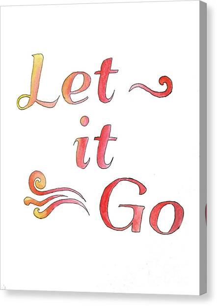 Let It Go Alternate Colors Canvas Print