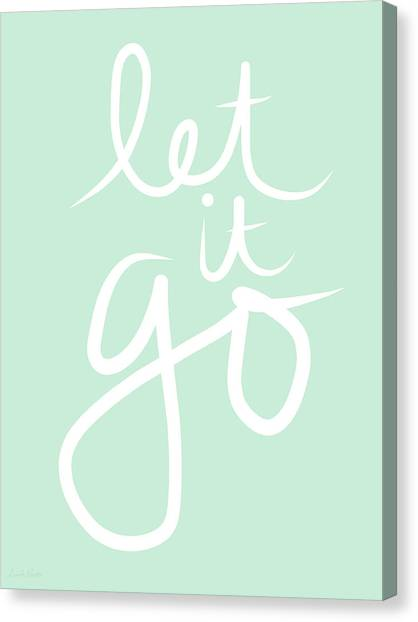 Yoga Canvas Print - Let It Go by Linda Woods