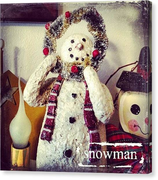 Holidays Canvas Print - Let It Snow!  #phonto #altphoto by Teresa Mucha
