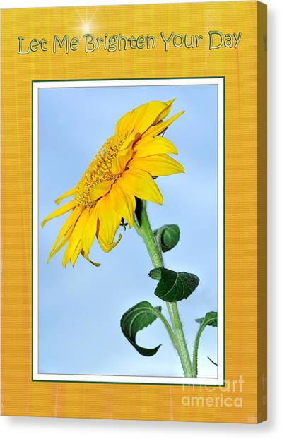 Let Me Brighten Your Day Canvas Print