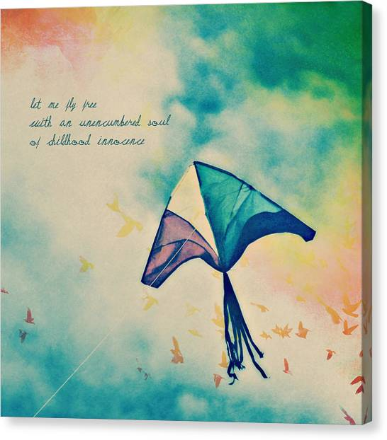 Let Me Fly Free Canvas Print