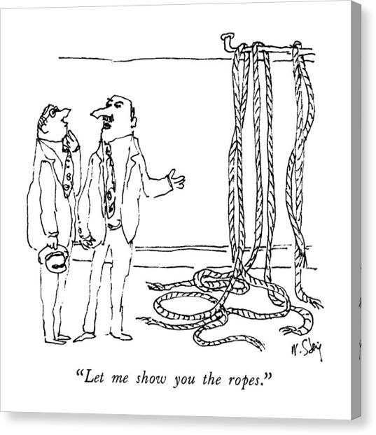 Rope Canvas Print - Let Me Show You The Ropes by William Steig