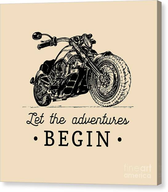 Let The Adventures Begin Inspirational Canvas Print by Vlada Young