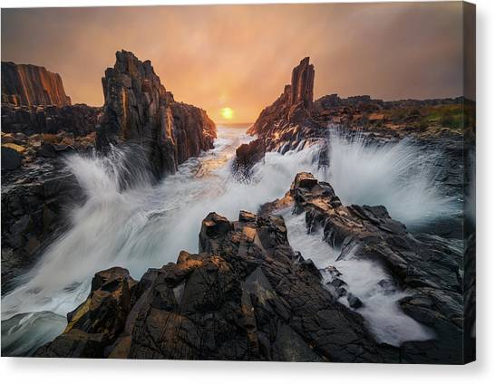 Formations Canvas Print - Let The Light Breaking Through by Tim Fan