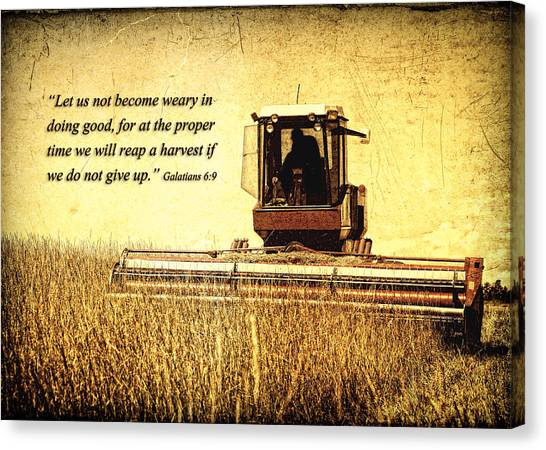 Let Us Not Become Weary Canvas Print