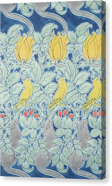 Canaries Canvas Print - Let Us Prey Wallpaper by Charles Francis Annesley Voysey
