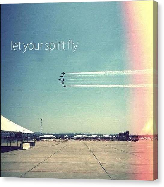 Jets Canvas Print - Let Your Spirit Fly by Brandon Weller
