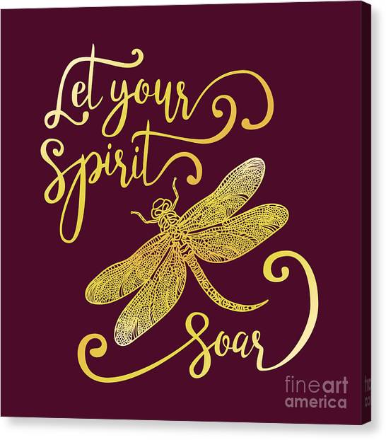 Let Your Spirit Soar. Hand Drawn Canvas Print by Trigubova Irina