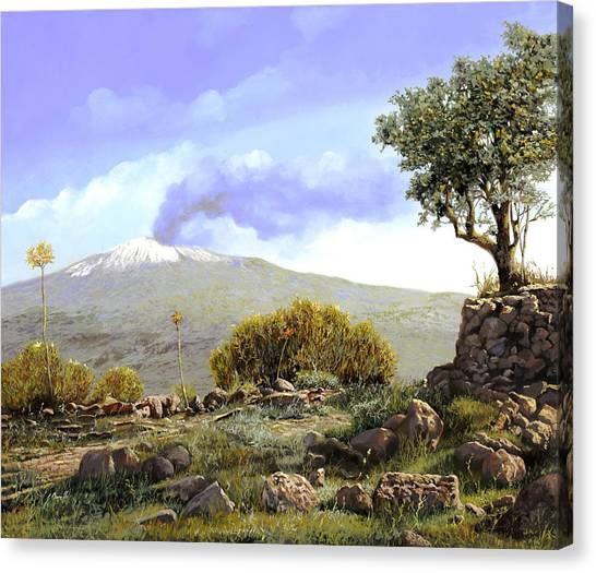 Volcanoes Canvas Print - l'Etna  by Guido Borelli