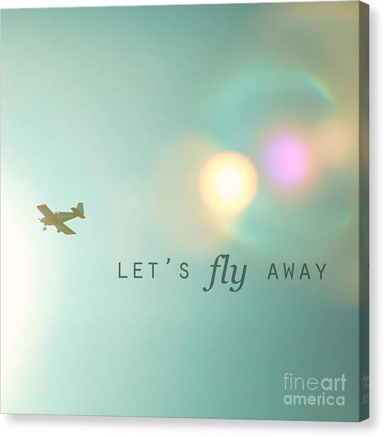 Transportation Canvas Print - Let's Fly Away by Kim Fearheiley