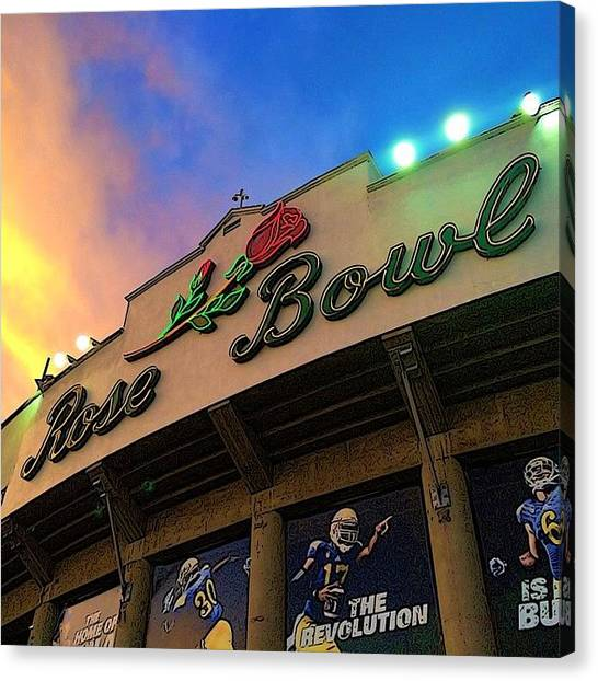 Pac 12 Canvas Print - Let's Go Bruins! #ucla #uclafootball by Alison Webster