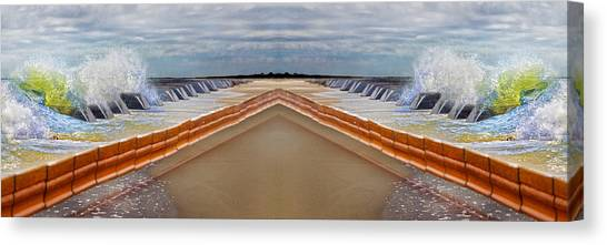 Tumbling Canvas Print - Let's Meet At Middle C by Betsy Knapp