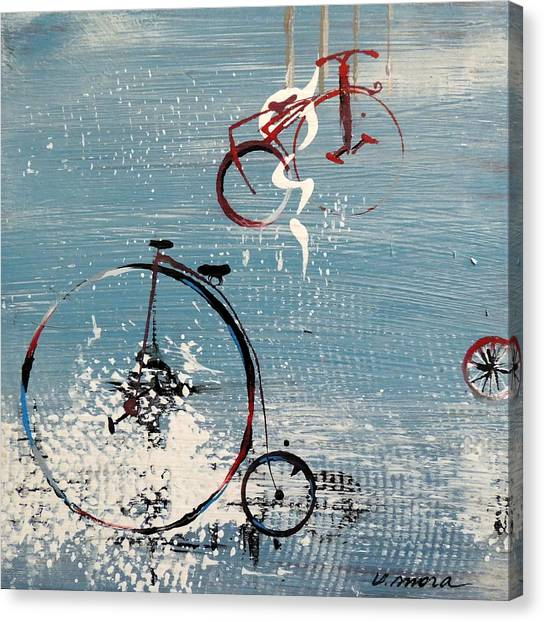 Let's Ride II Canvas Print by Vivian Mora