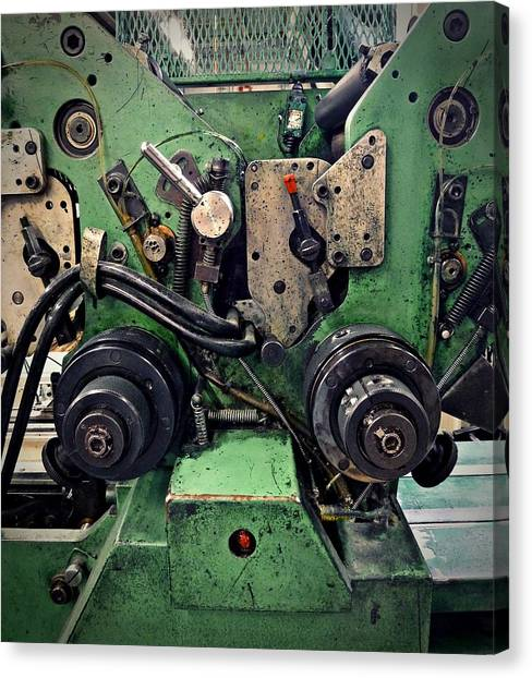 Letterpress Machine Canvas Print by Patricia Strand