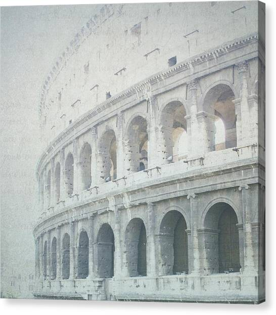 Letters From The Colosseum Canvas Print
