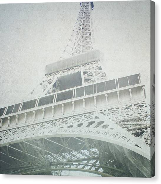 Letters From The Eiffel - Paris Canvas Print