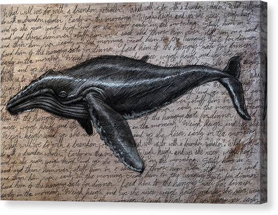 Whales Canvas Print - Leviathan by Mark Zelmer