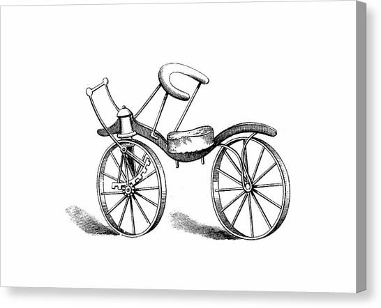 Pinion Canvas Print - Lewis Gompertz's Bicycle by Universal History Archive/uig