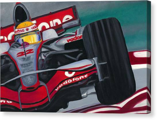 Lewis Hamilton F1 World Champion 2008 Canvas Print