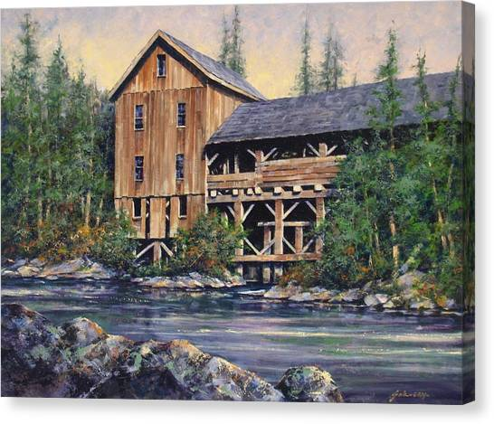 Canvas Print - Lewisville Grist Mill Afternoon by Jim Gola