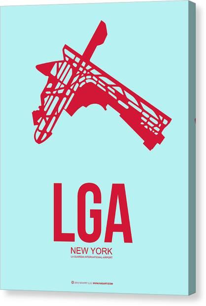 Airports Canvas Print - Lga New York Airport 2 by Naxart Studio
