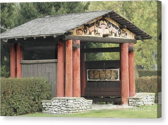 Lheit-li National Burial Grounds Entranceway Canvas Print
