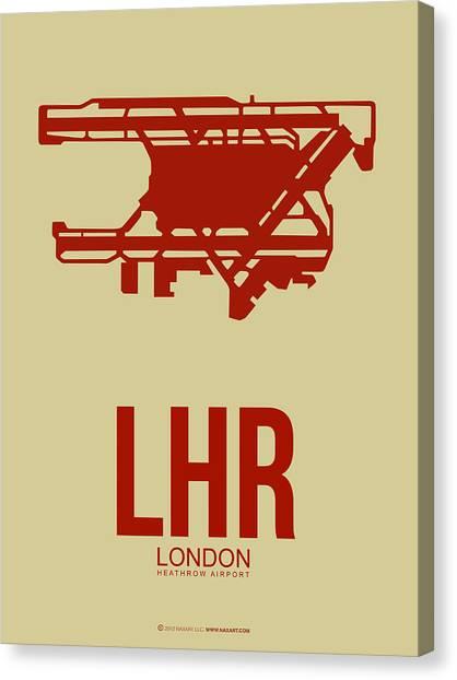 England Canvas Print - Lhr London Airport Poster 1 by Naxart Studio