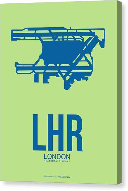 England Canvas Print - Lhr London Airport Poster 2 by Naxart Studio