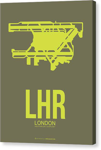 Tourist Canvas Print - Lhr London Airport Poster 3 by Naxart Studio