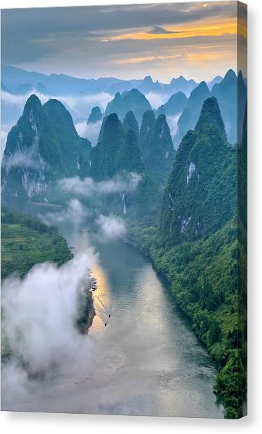 Chinese Canvas Print - Li River by Hua Zhu
