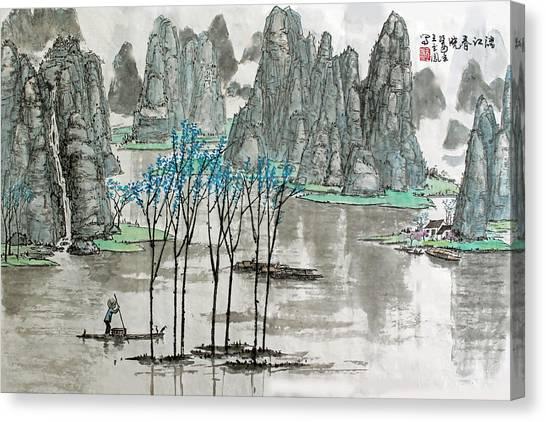 Li River In Spring Canvas Print