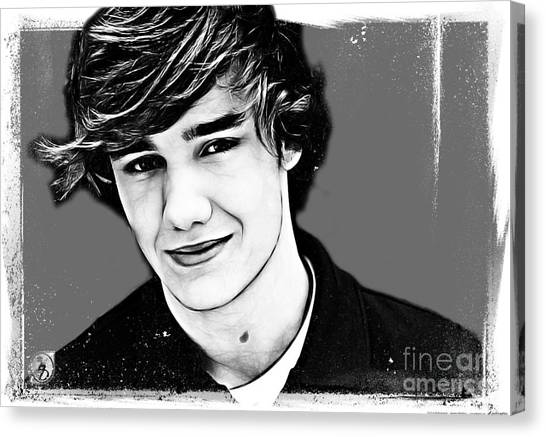 One Direction Canvas Print - Liam Payne by The DigArtisT