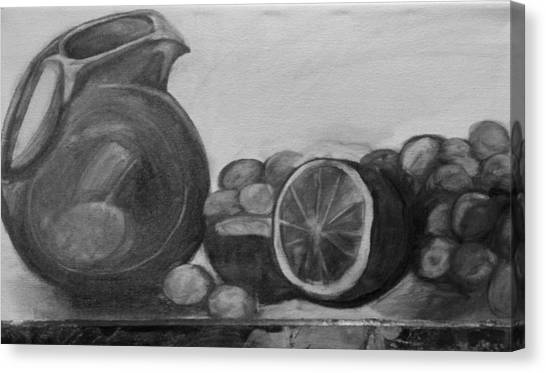 Libations Bw Canvas Print