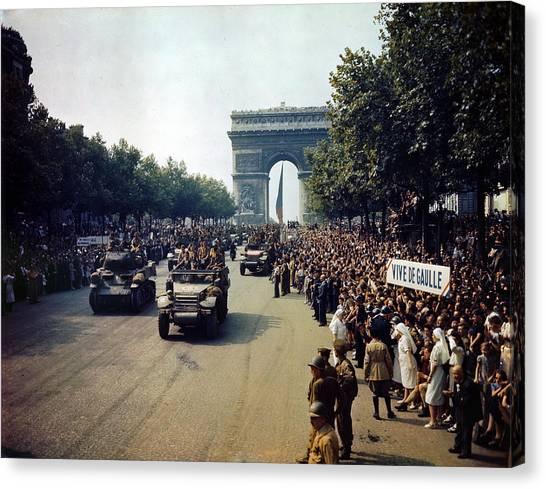Nato Canvas Print - Liberation Of Paris by Celestial Images