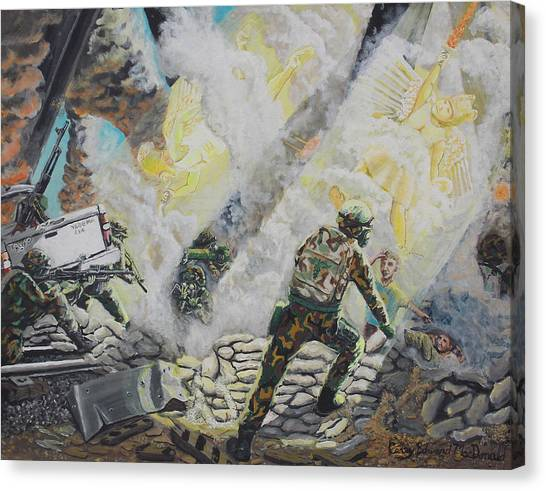 Liberator's Guardian Angles Canvas Print