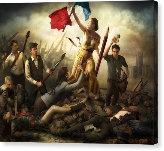 Famous Artists Canvas Print - Liberta? D'expression by Christophe Kiciak