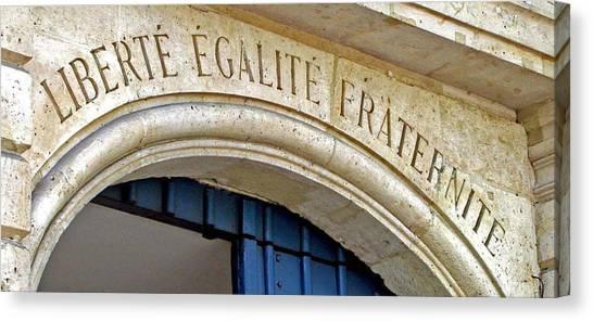 Liberte Canvas Print - Liberte Egalite Fraternite by Jean Hall
