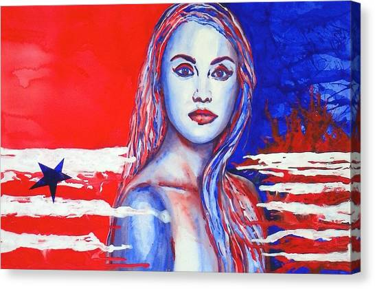 Liberty American Girl Canvas Print