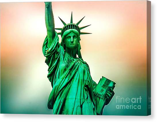 Independence Day Canvas Print - Liberty And Beyond by Az Jackson