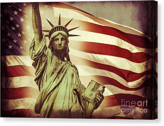 Independence Day Canvas Print - Liberty by Az Jackson