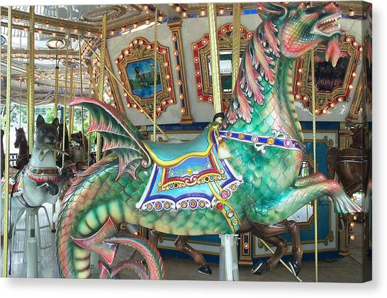 Philidelphia Canvas Print - Liberty Dragon by Barbara McDevitt