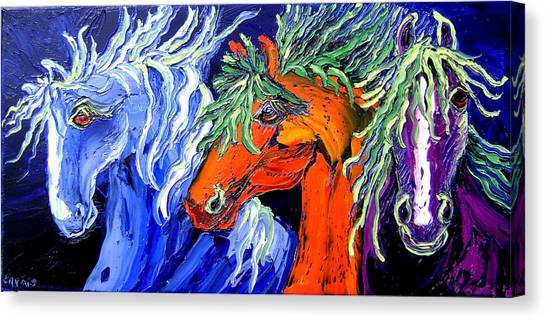 Liberty Horse Canvas Print by Isabelle Gervais