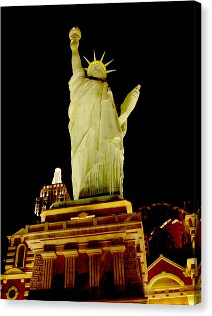 Liberty In Las Vegas Canvas Print