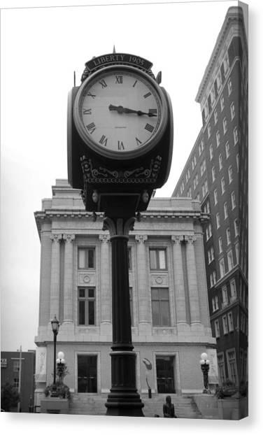 Liberty Mutual Clock Canvas Print