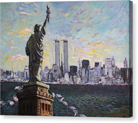 Statue Of Liberty Canvas Print - Liberty by Ylli Haruni